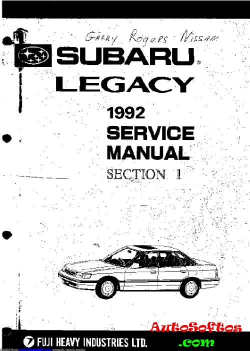 Service Manual Subaru Legacy » AutoSoftos.com