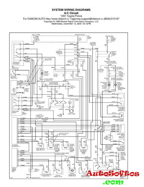 Wiring Diagrams Toyota Previa 1997 г. » AutoSoftos.com