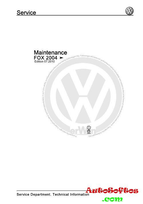 Workshop Manual VW Fox 2004 г. » AutoSoftos.com
