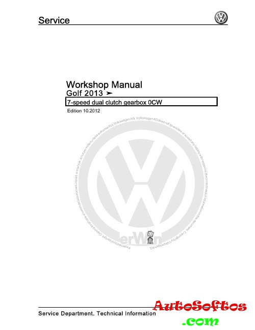 Workshop Manual VW Golf с 2013 г. » AutoSoftos.com