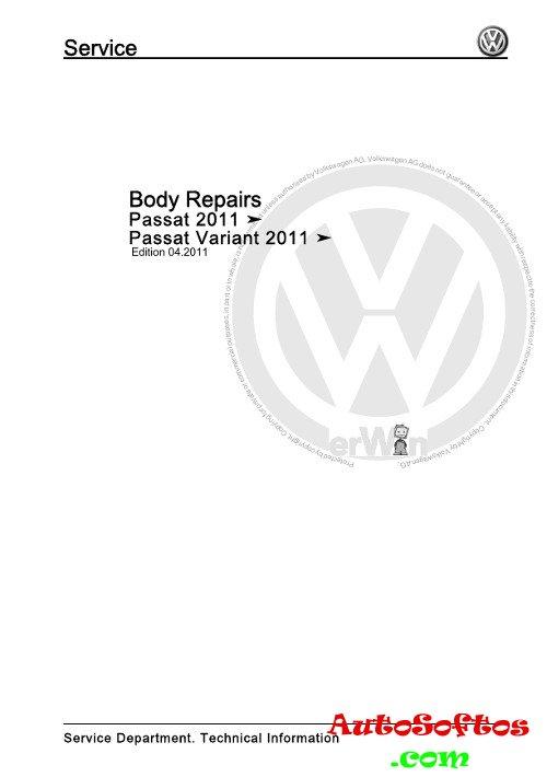 Body Repair Manual VW Passat с 2011 г. » AutoSoftos.com