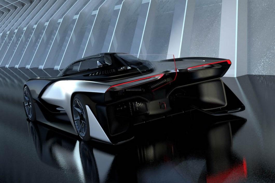 Первый концепт электросуперкара Faraday Future FFZero1