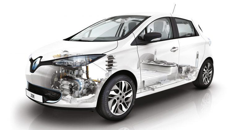 Рентгеновский фотоснимок Рено Зое дает представление об устройстве электромобиля
