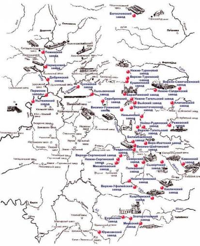 Акинфий Демидов за 43года жизни наУрале построил 95 рудников и13 железоделательных заводов. Это позволило снять зависимость отвраждебной тогда Швеции иначать экспорт металла в11 стран Европы иАзии