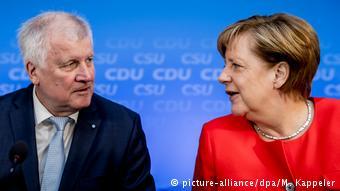 Хорст Зеехофер и Ангела Меркель