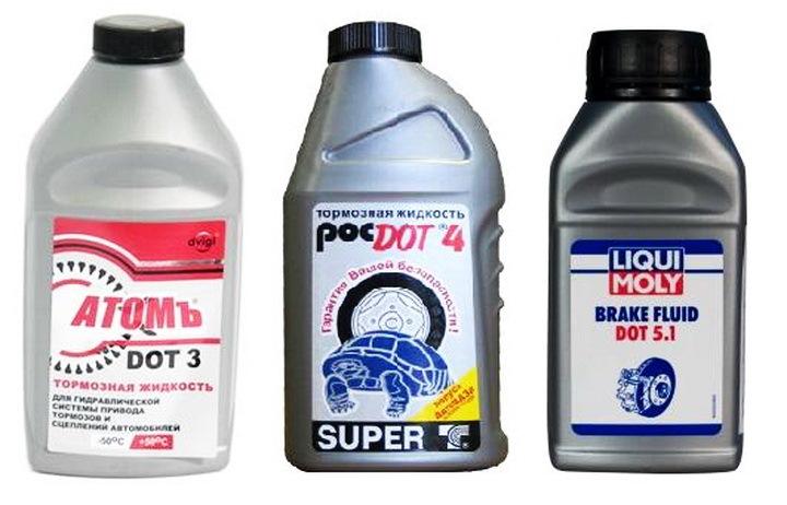 Тормозная жидкость - чем отличаются разные DOT