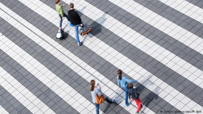 Пешеходный переход в Мюнхенском аэропорту