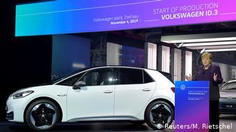 Ноябрь 2019. Ангела Меркель на церемонии начала производства VW ID.3 в Цвиккау