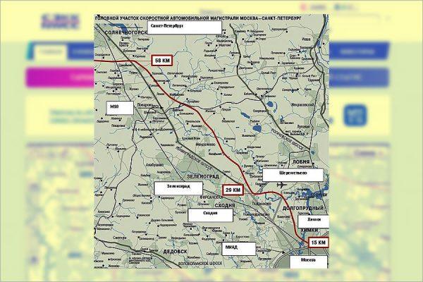 карта участков М11
