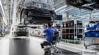 Volkswagen ID.3 собирают на заводе в восточногерманском Цвиккау