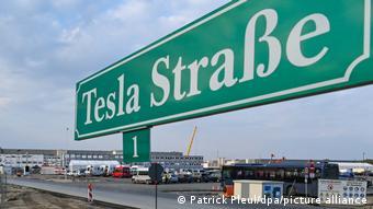 Адрес завода Tesla в Грюнхайде: улица Тесла, № 1