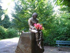 Ayrton Senna statue at Imola, Italy.