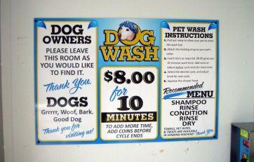 Dog Wash Menu