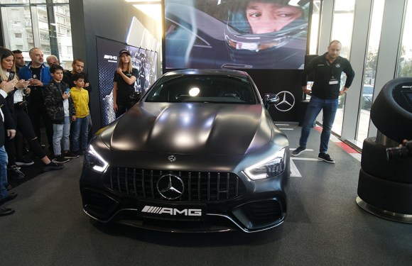 The new Mercedes-AMG GT 4-Door Coupé unveiled during a private viewing by T. Gargour & Fils