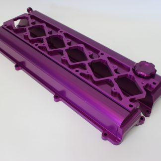 autosports engineering, billet, valve covers, 2jz, purple, custom
