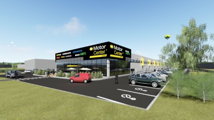 Около автосервисного центра будет парковка примерно на сотню автомашин.