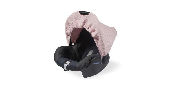 Jollein Zonnekapje Diamond Knit Vintage Pink (0 tot 9 maanden stoel)