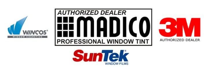 car window tinting featuring madico_3M_suntek_wincos_auto_window_tint