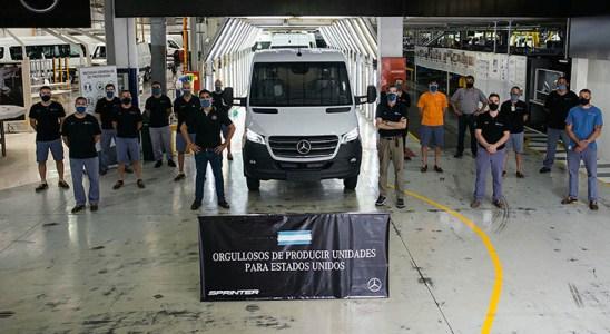 La Sprinter fabricada en Argentina, nuevamente rumbo a Estados Unidos