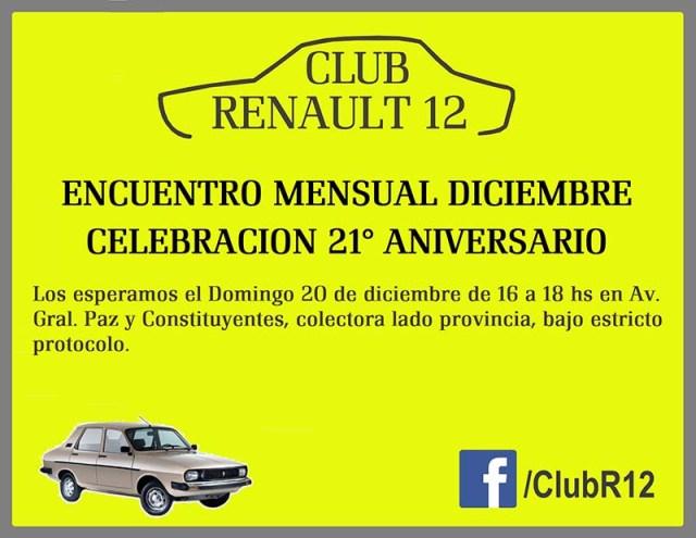 El Club Renault 12 retoma las actividades presenciales.