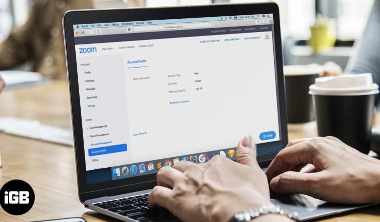 Как удалить свою учетную запись Zoom?