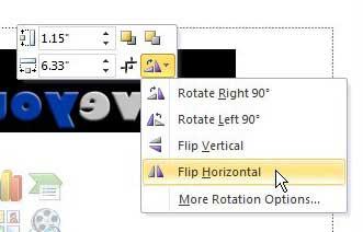 Как перевернуть изображение в Powerpoint 2010