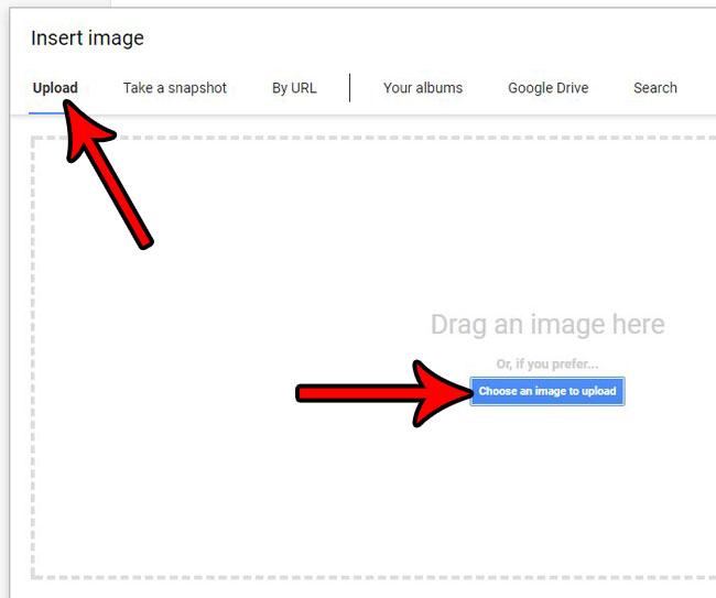 Как вставить изображение в документ Google
