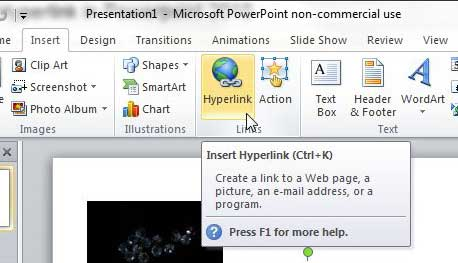 Как создать гиперссылку в Powerpoint 2010