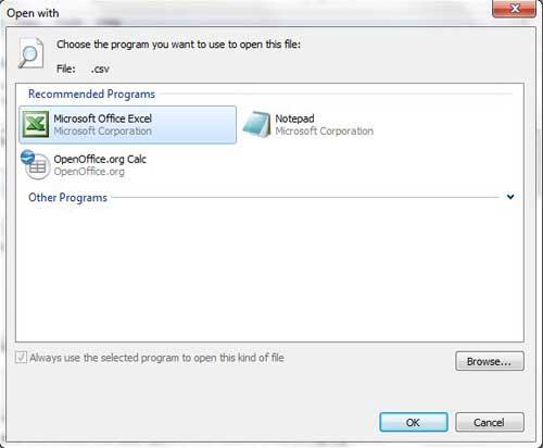 Как открыть файлы CSV в Excel по умолчанию