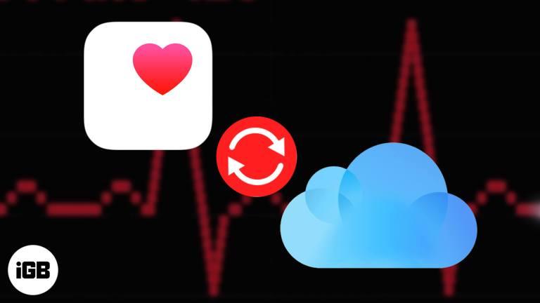 Как синхронизировать данные о здоровье с iCloud на iPhone