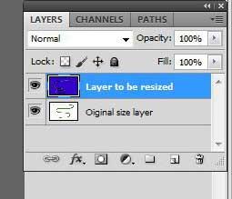 Как изменить размер слоя в Photoshop CS5