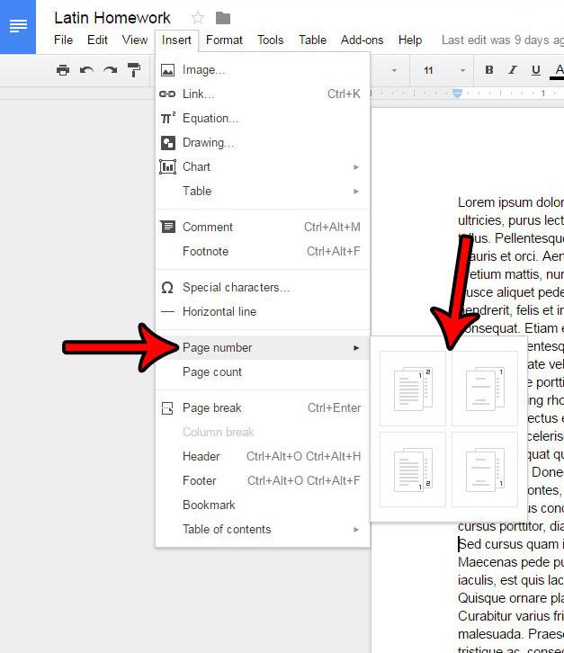 Как добавить номера страниц в Google Документы
