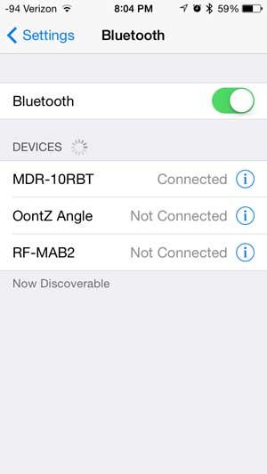 Как подключить наушники Sony MDR10RBT к iPhone