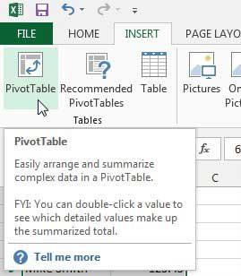 Как создать сводную таблицу в Excel 2013