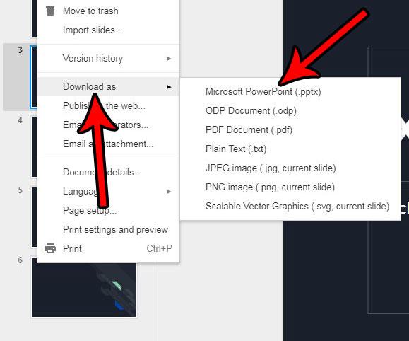 Как скачать презентацию Google Slides в виде файла PowerPoint