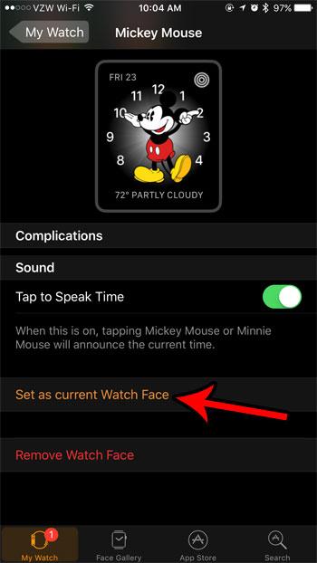 Как использовать лицо Микки Мауса на Apple Watch