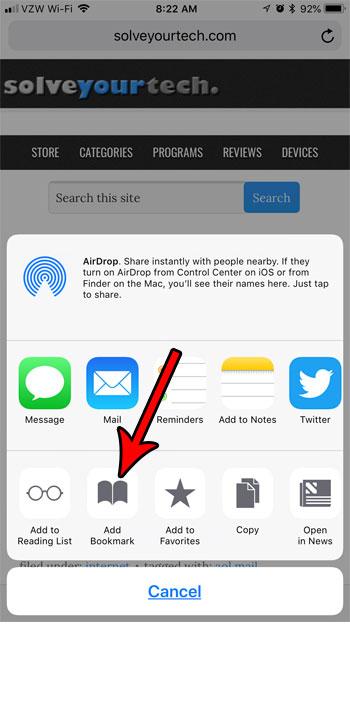 Как сделать закладку на iPhone для сохранения сайтов в браузере