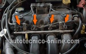 Parte 1 Cómo Probar los Inyectores de Combustible (Chrysler 20L, 24L)
