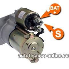 2000 S10 Starter Wiring Diagram Narva 5 Pin Rocker Switch Parte 3 -cómo Probar El Motor De Arranque (gm 3.1l, 3.4l)