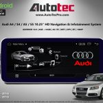 Audi A4 A5 2009 2016 Oem Fit 10 25 Hd Touch Screen Android Navigation System Gps Bt Wifi Camera Carplay Autotecpro Navigation Systems