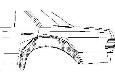 Innenradlauf rechts, passend bei W123 Limousine, Coupé und