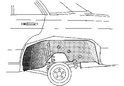 Radkasten hinten innen links, passend bei Limousine, Coupé