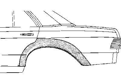 Radlauf hinten für 4-Türer links, passend bei Limousine