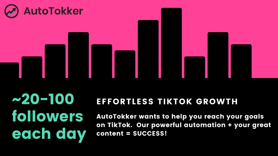 Gain 20-100 Real tiktok followers each day with the AutoTokker TikTok bot.