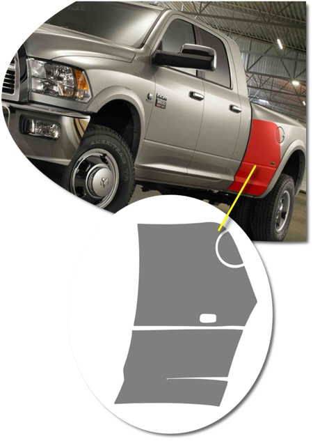 Dodge Dually Fenders : dodge, dually, fenders, Truck, Dually, Fender, Front, Protector, InvisiGARD