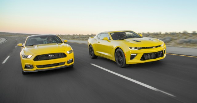 12.25.15 - 2016 Chevrolet Camaro SS and 2016 Ford Mustang GT