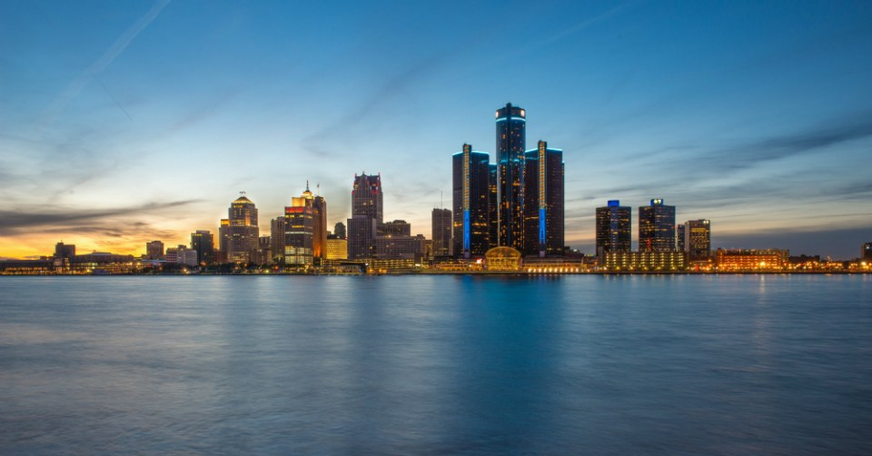 01.25.17 - Detroit Skyline