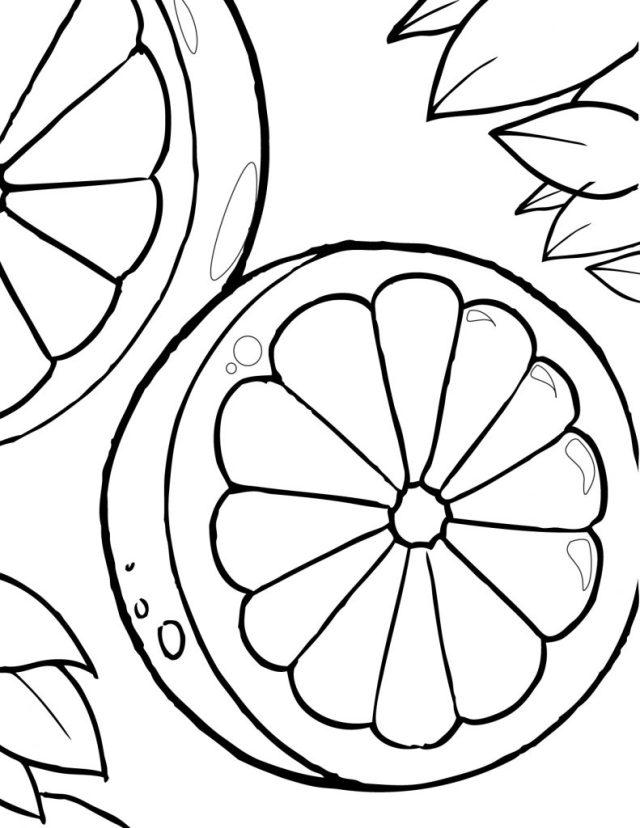 Coloriage oranges gratuit à imprimer et colorier  ADF