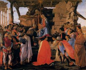 Botticelli Adoration des Mages Galerie des Offices Image Web Gallery of Art