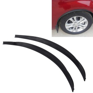 2 STKS Auto Stickers Rubber Ronde Arc Strips Universele Fender Flares Wiel Wenkbrauw Decal Sticker Auto-covers, maat: 45x2 cm